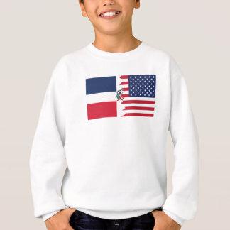 ドミニコ共和国の米国旗 スウェットシャツ