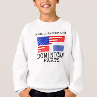 ドミニコ共和国の部品が付いているアメリカで作られる スウェットシャツ
