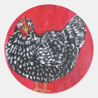 ドミニックの鶏 ラウンドシール
