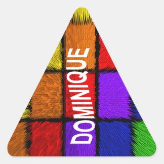 ドミニック 三角形シール