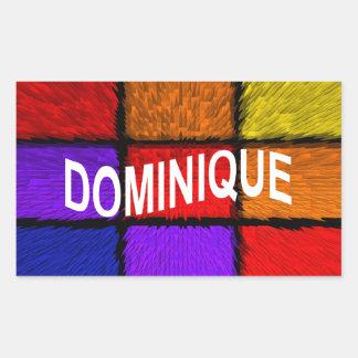 ドミニック 長方形シール
