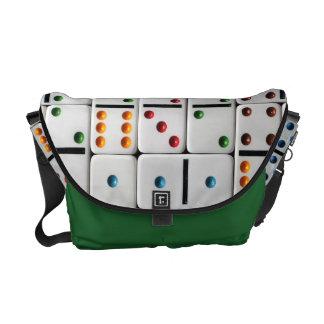 ドミノの中型のメッセンジャーバッグ(普通サイズのプリント) クーリエバッグ