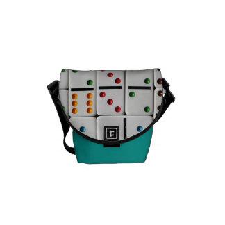 ドミノの小型メッセンジャーバッグ(普通サイズのプリント) クーリエバッグ