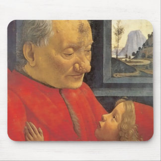 ドメニコ・ギルランダイオの老人および若い男の子 マウスパッド