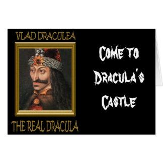 ドラキュラの城に来られる グリーティングカード