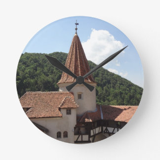 ドラキュラの城の時計 ラウンド壁時計