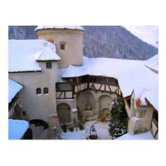 ドラキュラの城、ぬか、トランシルバニア、冬 ポストカード