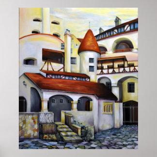 ドラキュラの城-内部の中庭 ポスター