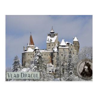 ドラキュラの城、冬 ポストカード