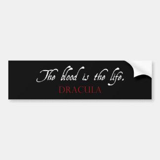 ドラキュラの引用文: 血は生命です バンパーステッカー