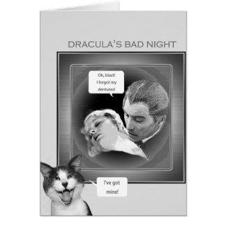 ドラキュラの悪い夜 グリーティングカード