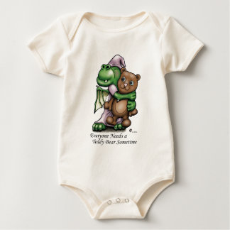 ドラゴンおよびくまのオーガニックな幼児クリーパー ベビーボディスーツ