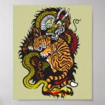 ドラゴンおよびトラの戦い ポスター