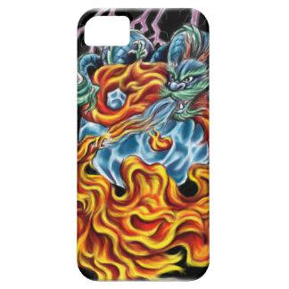 ドラゴンおよびフェニックスIPhone 5の例 iPhone SE/5/5s ケース