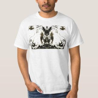 ドラゴンおよび裸体の芸術のシルエットのTシャツ Tシャツ