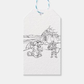 ドラゴンおよび騎士城の漫画 ギフトタグ