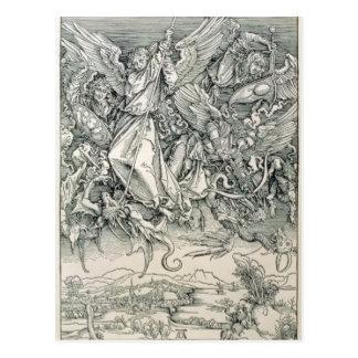 ドラゴンと戦うセントマイケル ポストカード