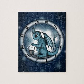 ドラゴンのアクエリアスの(占星術の)十二宮図 ジグソーパズル