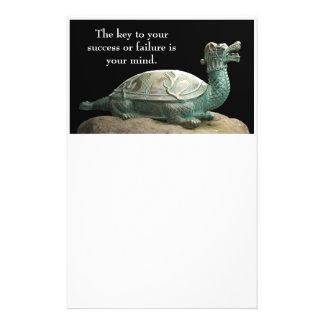 ドラゴンのカメの文房具 便箋