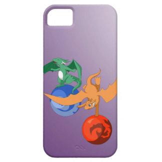 ドラゴンのサーカスの紫色のiPhone 5/5sの箱 iPhone SE/5/5s ケース