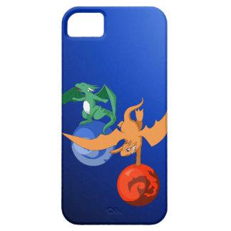 ドラゴンのサーカスの青いiPhone 5/5sの箱 iPhone SE/5/5s ケース
