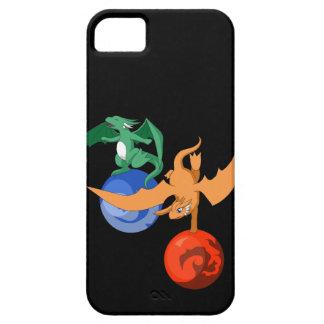 ドラゴンのサーカスの黒のiPhone 5/5sの場合 iPhone SE/5/5s ケース