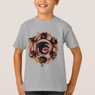 ドラゴンのシルエット Tシャツ