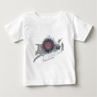ドラゴンのスノーボード ベビーTシャツ