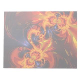 ドラゴンのダンス-インディゴ及びこはく色の目 ノートパッド