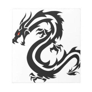 ドラゴンのトーテムの中国の要素 ノートパッド