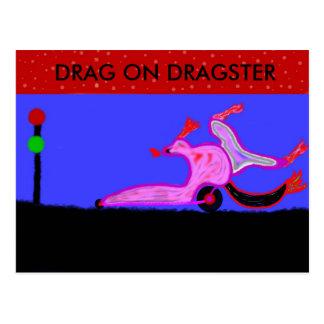 ドラゴンのドラッグの競争 ポストカード
