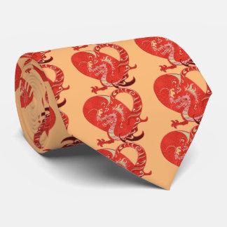 ドラゴンのハートのバレンタインの中国人の辰年 オリジナルネクタイ