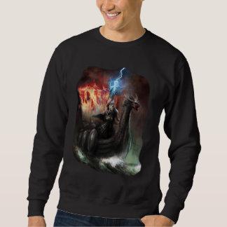 ドラゴンのバイキングの船の暗闇のスエットシャツ スウェットシャツ