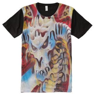 ドラゴンのファンタジーの落書きの通りの芸術 オールオーバープリントT シャツ