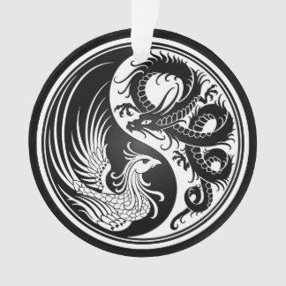 ドラゴンのフェニックスの白くおよび黒い陰陽 オーナメント