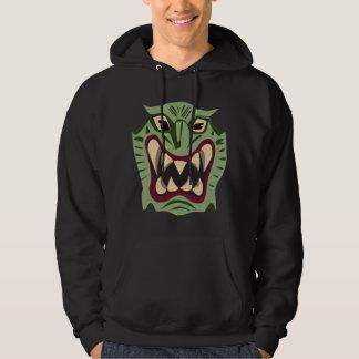 ドラゴンのフード付きスウェットシャツ パーカ