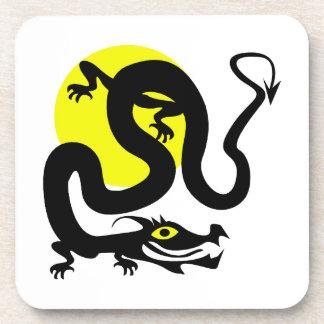 ドラゴンのヘビの黄色sun.png コースター