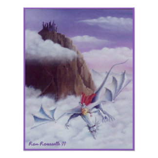 ドラゴンのライダーのプリント ポスター