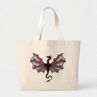 ドラゴンのロゴ ラージトートバッグ