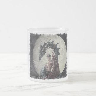 ドラゴンの主婦-曇らされたガラスのマグ フロストグラスマグカップ