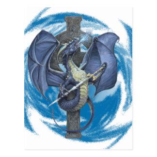 ドラゴンの交差の郵便はがき ポストカード