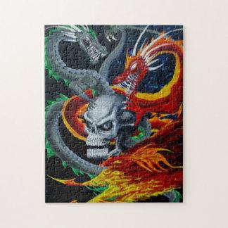 ドラゴンの包まれたなスカルのパズル ジグソーパズル