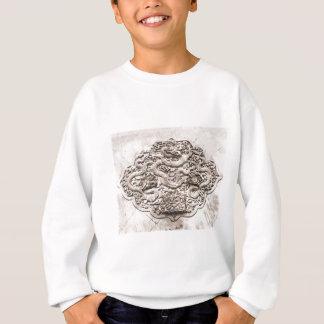 ドラゴンの彫刻のスケッチ スウェットシャツ