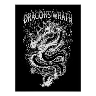 ドラゴンの憤りの白 ポスター