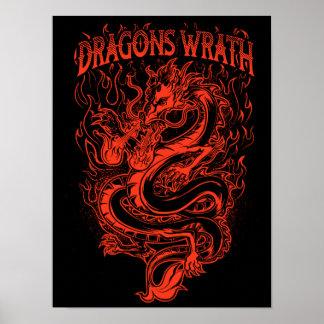 ドラゴンの憤りの赤 ポスター