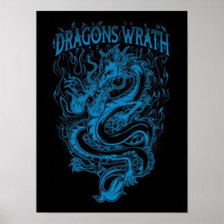 ドラゴンの憤りの青 ポスター