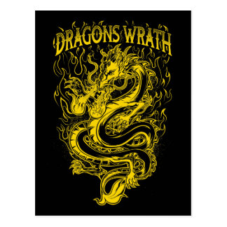 ドラゴンの憤りの黄色 ポストカード