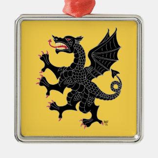 ドラゴンの手がつけられないクロテン メタルオーナメント