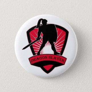 ドラゴンの殺害者の騎士ボタン 5.7CM 丸型バッジ