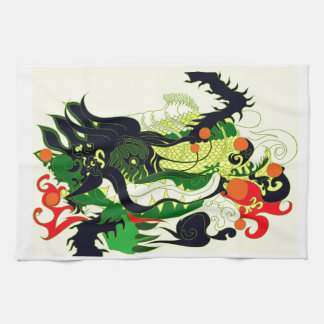 ドラゴンの洞穴(羊皮紙) キッチンタオル
